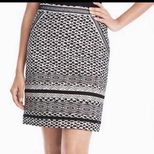 WHBM , Black and White skirt. Ladder accent detail